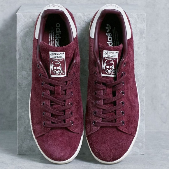 6f8418816a4cb8 ... spain nwt adidas stan smith maroon suede shoes women 7.5 408ce 0e106